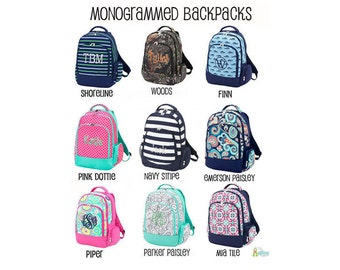Monogrammed Backpack, Kids Backpack, Personalized Backpack, School Backpack, Book Tote, Book Bag, Monogram Backpack for School
