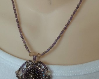CLEARANCE SALE:  Mauve beaded necklace