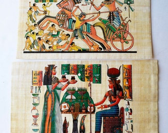 Set of two Egyptian papyrus