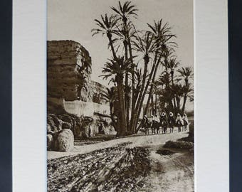 1920s Antique Morocco Print, Available Framed, Medina Art, Marrakesh Walls Decor, Old Moroccan Gift, North African Picture, Marrakech Photo