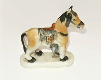 Vintage Horse Figurine Made in Japan, Western Decor or Cowboy Decor