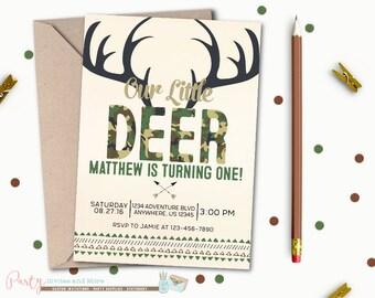 Deer Invitation, Hunting Invitation, Deer Camo Invitation, Camouflage Invitation, Hunting Birthday Invitation, Deer Birthday Invitation