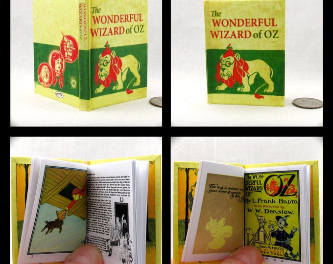 The WONDERFUL WIZARD Of OZ Illustrated Book in 1:3 Scale Readable Book American Girl Doll L. Frank Baum W. W. Denslow 18 inch Ag Doll 1/3