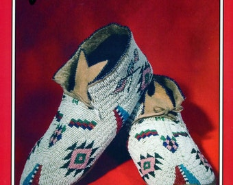 Missouri River Native American Indian Plains Style Moccasins Sewing Pattern