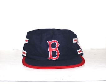 1980s Boston Red Sox hat//80s boston vintage//80s baseball hat//80s stretch back hat