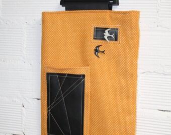 Rectangular bag with wooden handles - Tote bag