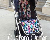 Stroller Liner, Pram Liner, buggy liner, seat cover. Custom made for Uppababy Vista, Uppababy Cruz or Alta, pick your fabric & made to order