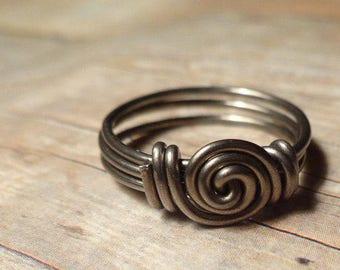 Niobium Ring, Swirl Ring, Hypoallergenic Ring, Size 2 3 4 5 6 7 8 9 10 11 12 13 14, Hypoallergenic Jewelry Nickel Free Allergy Free