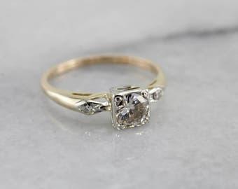Vintage Illusion Set Diamond Engagement Ring 8N5K7Y-N