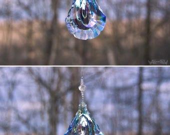 Aura Rain Rays - Prism - Rainbow Maker- Window Hanging or Necklace