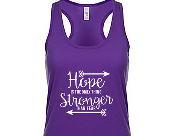 Hunger Games Tank Top - Hope is the Only thing Stronger than Fear