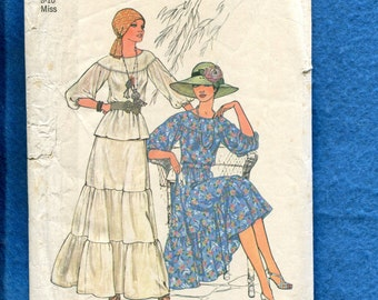 1976 Simplicity 7467 Cottage Chic Ruffled Tier Skirts Size Small 8/10