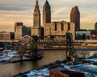 Fine Art Photography // Skyline, Cleveland, Ohio // Giclée Print