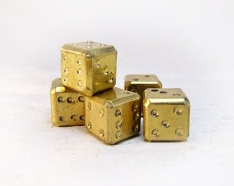 5 set cube made of brass