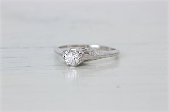 antique engagement ring edwardian filigree ring 1920s