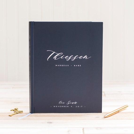 Wedding Guest Book Wedding Guestbook Custom Guest Book Navy custom sign in book wedding gift keepsake nautical wedding album wedding planner
