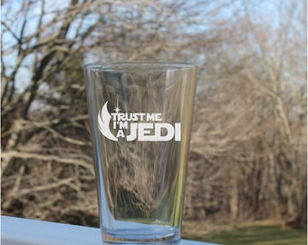 Star wars,  jedi, Pint Glasses pint glass, beer glasses, Pint Glass, Etched pint Glass,  custom, 16oz - , Etched Glassware Pilsner