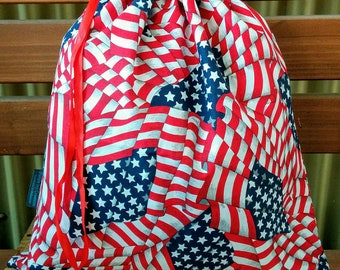 Kids Library/Toy Bag - Stars and Stripes.