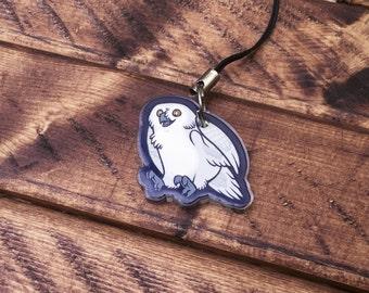 "1"" Animal Charms - Snowy Owl"