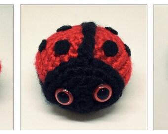 Tiny Amigurumi Ladybug Plush Crochet Toy