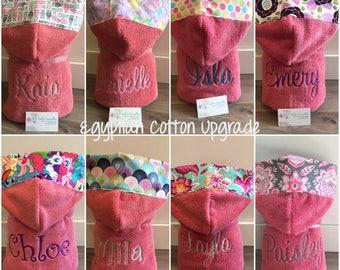 Hooded towel, PINK, Luxury Egyptian Cotton.  Sale! Save 5 bucks!