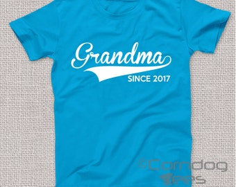 Grandma Gift Grandmother Gift Grandma Shirt Personalized Grandma Gifts Grandmother Shirt Christmas Gifts for Grandma T Shirt (ANY YEAR)
