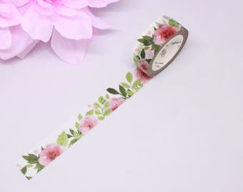 Washi Tape Floral, Floral Washi Tape, Pink Washi Tape, Pink Floral Washi, Washi Tape Samples, Planner Accessories, Happy Planner Accessories