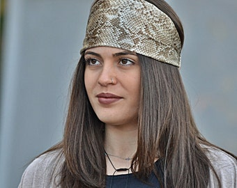 Snake Print  Headband, Satin Turban, Snake Headband, Hair Accessories, Womens Accessories, Animal Print, Womens Headband, Vintage Headbands