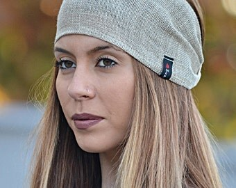 Burlap Turban, Hair Accessories, Burlap Wrap, Workout Turban, Workout Headbands, Fabric Headwrap, Headwrap, Head Wrap, Natural Turbans, Gift