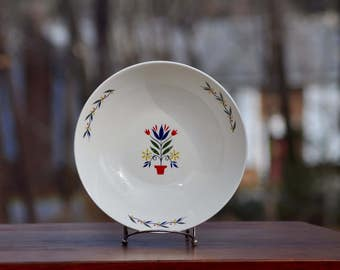 Homer Laughlin Rhythm Homer Laughlin China Homer Laughlin Bowl American Provincial Folk Art Floral