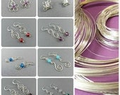Choose 3 Small Dangle Earrings - Sterling Silver Wire Work Earrings Mix 'n' Match - Handmade wire wrap jewelery
