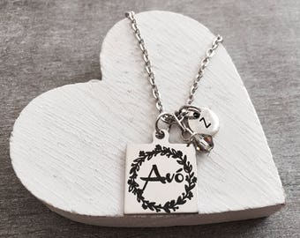 avó, avo, portuguese, grandmother, Grandma, Silver Necklace, Gift for, avó Gift, Silver Jewelry, Charm Necklace, New Grandma, Gran, keepsake