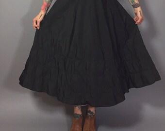 Vintage Petticoat / Vintage Crinoline Petticoat / Retro A Line Skirt / Poodle Skirt / 1950s Skirt with Crinoline / Poodle Skirt Medium