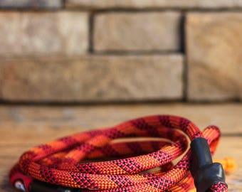 Climbing Rope Dog Leash // Pink Dog Leash // Orange Dog Leash // Upcycled Dog Leash