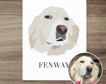 Custom Dog Portrait, Dog Portrait, Custom Pet Portrait, Dog mom gift, Dog Illustration, Dog anniversary gift, Dog Art, Custom Dog portrait