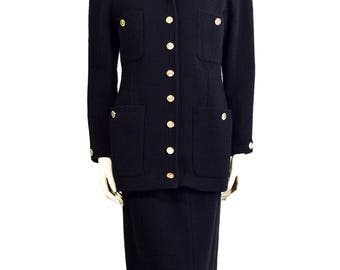 1989 Vintage Chanel BOUTIQUE Suit - Black