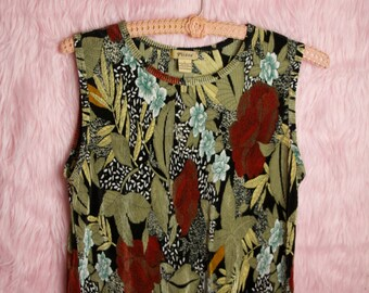 90s Floral Tank Top