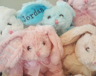 Personalized Bunny, Baby Bunny, Easter Bunny. Customized Bunny for children of all ages. Great for Baby Name and Birthday!