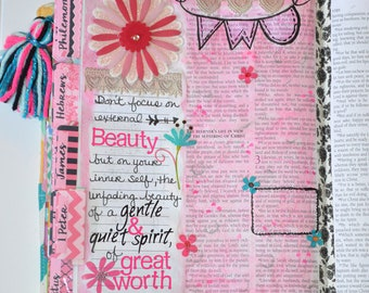 Bible Tabs with Laminating Stickers... DARLING DIVA set... 66 Books of the Bible... Self Adhesive... Hot Pink & Black