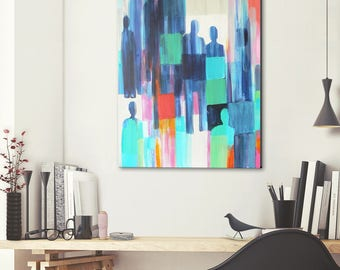 Incognito - original abstract painting on canvas