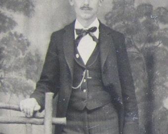 Does This Hat Make My Ears Look Big - Original 1880's Awkward Man Tintype Photograph - Free Shipping