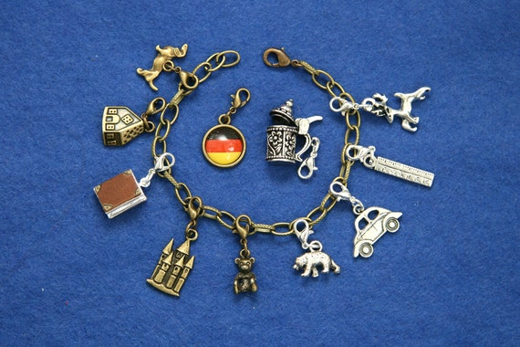 Germany charm bracelet German traveler