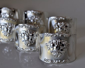 Vintage Quist Napkin Rings Set of 6 West Germany