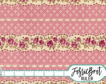 SHABBY CHIC Fabric by the Yard Fat Quarter Pink Fabric Striped Floral Fabric Rose Fabric 100% Cotton Fabric Quilt Fabric Apparel Fabric t1-1