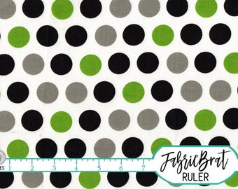 LIME & GRAY Polka Dot Fabric by the Yard, Fat Quarter Lime Giraffe Dot Fabric 100% Cotton Fabric Apparel Fabric Quilting Fabric Yardage t5-2