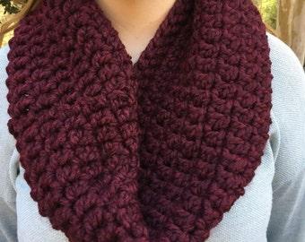 Crochet Cowl // Wine