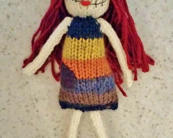 Handmade Sally knit doll - Sally doll - Nightmare Before Christmas Doll - Knitted Doll - Hand Knit Sally