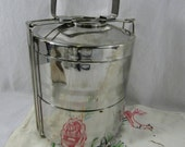Stainless Steel Tiffin Stackable Cannisters Insulated Lunch Tote Bento Box