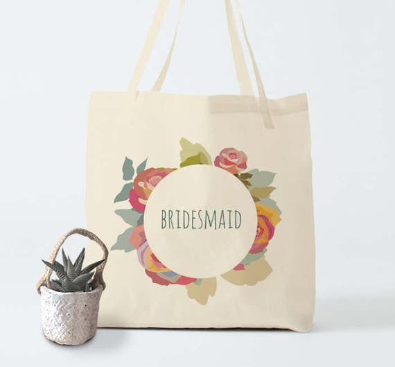 Tote Bag, Bridesmaid, bridesmaid tote, canvas bag, groceries bag, cotton tote, laptop bag, gift coworker, novelty gift, bachelorette.