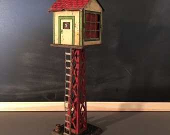 MAR Toys Vintage Tin Train Switch Tower.